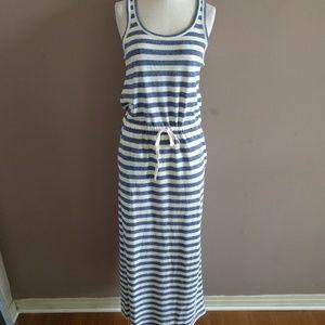 Lou & Grey XS Striped Maxi Dress Linen Blend